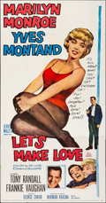 "Movie Posters:Comedy, Let's Make Love (20th Century Fox, 1960). Folded, Very Fine-. ThreeSheet (41"" X 79""). Comedy.. ..."