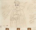 Animation Art:Production Drawing, Snow White and the Seven Dwarfs Evil Queen with Heart BoxAnimation Drawing (Walt Disney, 1937)....