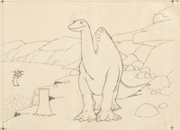 Gertie the Dinosaur Animation Drawing (Winsor McCay, 1924)