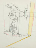 Animation Art:Production Drawing, Fantasia Mickey Mouse as the Sorcerer's Apprentice AnimationDrawing (Walt Disney, 1940)....