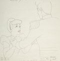 Animation Art:Color Model, Cinderella The Prince and Cinderella Color Model Drawing(Walt Disney, 1950)....