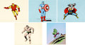 Animation Art:Presentation Cel, The Marvel Super Heroes Publicity Cels Group of 5 (Grantray-Lawrence, 1966).... (Total: 5 Items)