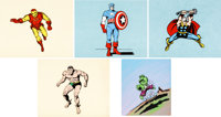 The Marvel Super Heroes Publicity Cels Group of 5 (Grantray-Lawrence, 1966).... (Total: 5 Items)