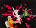 Animation Art:Production Cel, Dragon's Lair Dirk the Daring Production Cel Master Setup(Don Bluth, 1983).... (Total: 2 Items...