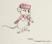 The Rescuers Down Under Miss Bianca Character Design Art Group of 4 (Walt Disney, 1990).... (Total: 4 Original Art)