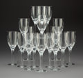 Glass, Seventeen Lalique Angel Pattern Champagne Flutes, Paris, post-1945. Marks to each: LALIQUE®, FRANCE. 8-1/8 x 2-3... (Total: 17 Items)