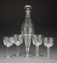 A Twenty-Five-Piece Tharaud Royal Peacock Pattern Wine Service, Maplewood, New Jerse