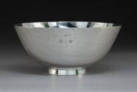 A Tiffany & Co. Silver Center Bowl with Dust Bag and Original Box, New York, 1920 Marks: TIFFANY & CO, 1...