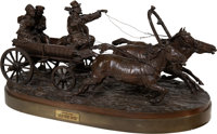 A Russian Bronze Group of Troika Ride Cast from a model by Alexi Petrovitch Gratcheff (Russian, 1780-1850) Mark