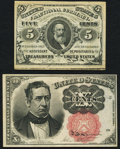 Fractional Currency:Third Issue, Fr. 1238 5¢ Third Issue New;. Fr. 1266 10¢ Fifth Issue Choice New.. ... (Total: 2 notes)