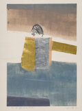 Works on Paper:Print, Janet Lippincott (1918-2007). Man with Gold-Silver Shirt, 1992. Monoprint in colors on paper. 30 x 22 inches (76.2 x 55....