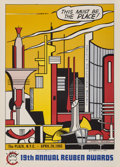 Prints & Multiples:Print, Roy Lichtenstein (1923-1997). This Must Be the Place, for the Reuben Awards, 1965. Offset lithograph in colors on smooth...