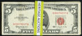 Small Size:Legal Tender Notes, A Group of Sixty-Two $5 Legal Tender Notes. Very Good or Better.. ... (Total: 62 notes)