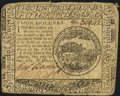 Continental Currency May 10, 1775 $4 Fine-Very Fine
