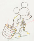 "Animation Art:Production Drawing, Fantasia ""Sorcerer's Apprentice"" Mickey Mouse Animation Drawing (Walt Disney, 1940). ..."