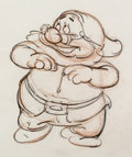 Animation Art:Production Drawing, Snow White and the Seven Dwarfs Doc Animation Drawing (Walt Disney, 1937). ...