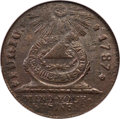 Colonials, 1787 CENT Fugio Cent, STATES UNITED, 4 Cinquefoils, Pointed Rays,MS63 Brown NGC. N. 12-X, W-6820, R.3....