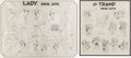 animation art:Model Sheet, Lady and the Tramp Studio Model Sheets Group of 2 (Walt Disney, 1955). ... (Total: 2 Items)