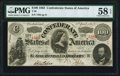 Confederate Notes:1863 Issues, T56 $100 1863 PF-1 Cr. 403 PMG Choice About Unc 58 EPQ.. ...