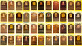 Autographs:Post Cards, 1970's-2000's Signed Hall of Fame Plaque Postcard Lot of 44....