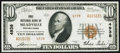 National Bank Notes:Pennsylvania, Meadville, PA - $10 1929 Ty. 2 First NB Ch. # 4938 Very Fine+.. ...