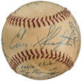 Autographs:Baseballs, 1953 St. Louis Cardinals Team Signed Baseball from The Enos Slaughter Collection....