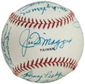Autographs:Baseballs, 1980's Cracker Jack Old-Timers Classic Multi-Signed Baseball fromThe Enos Slaughter Collection....