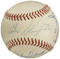 1960's Hall of Famers & Stars Multi-Signed Baseball from The Enos Slaughter Collection