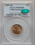 Lincoln Cents, 1909-S/S 1C S Over Horizontal S MS65 Red PCGS. CAC. PCGS Population: (233/98). CDN: $950 Whsle. Bid for ...