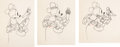 Animation Art:Limited Edition Cel, The Dognapper Mickey Mouse and Donald Duck AnimationDrawings Sequence of 3 (Walt Disney, 1934). ... (Total: 3 OriginalArt)