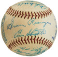 Autographs:Baseballs, 1960 Houston Buffs Team Signed Baseball from The Enos Slaughter Collection....