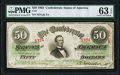 Confederate Notes:1863 Issues, T57 $50 1863 PF-8 Cr. 414 PMG Choice Uncirculated 63 EPQ.. ...