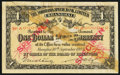 China Yokohama Specie Bank Limited, Shanghai 1 Dollar 10.9.1902 Pick S705s Specimen Fine