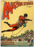 Pulps:Science Fiction, Amazing Stories - August 1928 (Ziff-Davis) Condition: FN-....