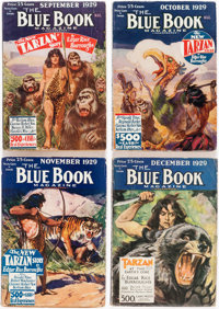 "Blue Book ""Tarzan at the Earth's Core"" Group of 7 (McCall, 1929-30) Condition: Average FN-"