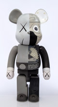 Collectible:Contemporary, KAWS X BE@RBRICK. Dissected Companion 1000% (Grey), 2010. Painted cast vinyl. 28 x 13-1/4 x 9-1/2 inches (71.1 x 33.7 x ...