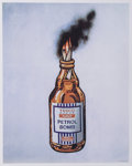Prints & Multiples:Print, Banksy X Bristol Riots. Petrol Bomb, poster, 2011. Offset lithograph in colors on satin white paper. 19-3/4 x 15-5/8 inc...