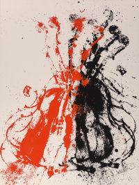ARMAN (1928-2005) Violent Violins II, 1979 Screenprint in colors on Arches paper 30 x 22 inches (