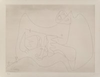 Le Corbusier (1887-1965) Naissance Mintoaure, 1964 Etching on wove paper 22 x 28-1/2 inches (55.9