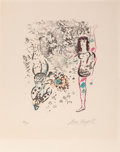 Prints & Multiples:Print, Marc Chagall (1887-1985). Le Jeu des Acrobates, 1963. Lithograph in colors on wove paper. 19-1/4 x 14-1/2 inches (48.9 x...