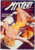 Pulps:Horror, Spicy Mystery Stories - October 1935 (Culture) Condition: VF-....