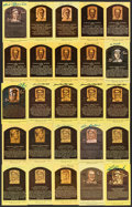 Autographs:Bats, Hall of Fame Yellow Post Card Plaque Signed Collection (171)....