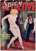 Pulps:Detective, Spicy Detective Stories #1934-04 (Culture, 1934) Condition: FN/VF....
