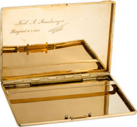 Giant Leap World Tour, 10/18-20 (Yugoslavia): 18K Gold Engraved Cigarette Case Presented by President Tito to Armstrong...
