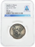 Explorers:Space Exploration, Apollo 11 Flown MS66 NGC Sterling Silver Robbins Medallion, Serial Number 9, Directly From The Armstrong Family Collection™, C...