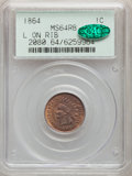 Indian Cents, 1864 1C L On Ribbon MS64 Red and Brown PCGS. CAC. PCGS Population: (326/133). NGC Census: (169/116). CDN: $840 Whsle. Bid f...
