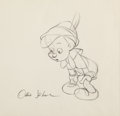 Animation Art:Production Drawing, Pinocchio Animation Drawing Signed by Ollie Johnston (Walt Disney, 1940). ...