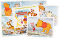 Animation Art:Poster, Winnie the Pooh and Tigger Too Set of 6 Lobby Cards with Envelope (Walt Disney, 1974).... (Total: 7 Items)