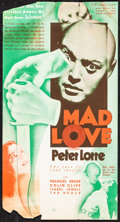 "Movie Posters:Horror, Mad Love (MGM, 1935). Fine+. Herald (Folded: 4.25"" X 11.75"" &Unfolded: 6.25"" X 11.75""). Horror.. ..."