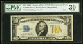 Small Size:World War II Emergency Notes, Fr. 2308* $10 1934 Mule North Africa Silver Certificate. PMG Very Fine 30.. ...